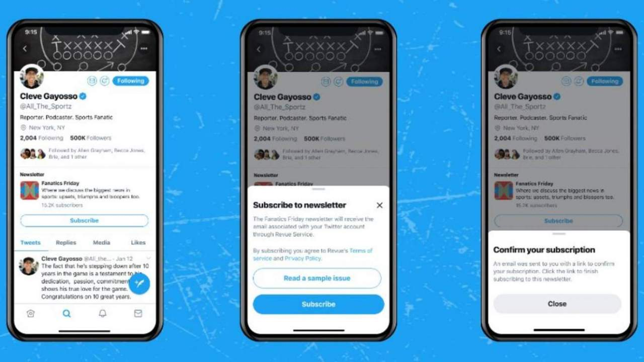 Revue newsletter subscription buttons are coming to Twitter profiles