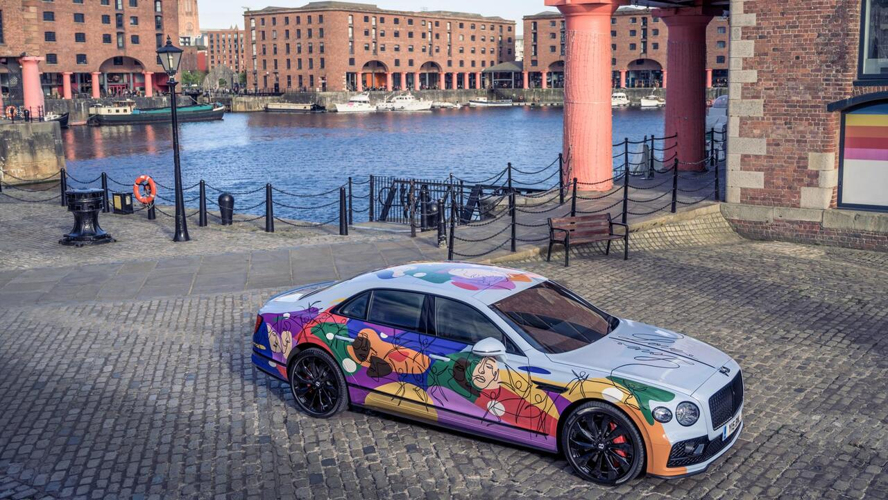 This Bentley Unifying Spur art car is an ode to love, progress, and unified diversity