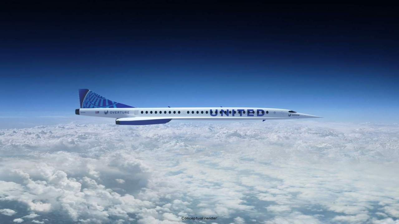 United orders Boom supersonic jets to cut long-haul travel times in half