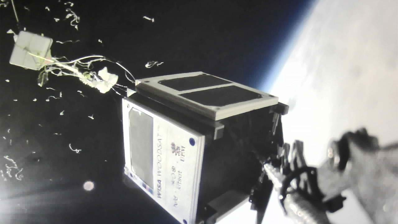 WISA Woodsat test flight takes it to the stratosphere