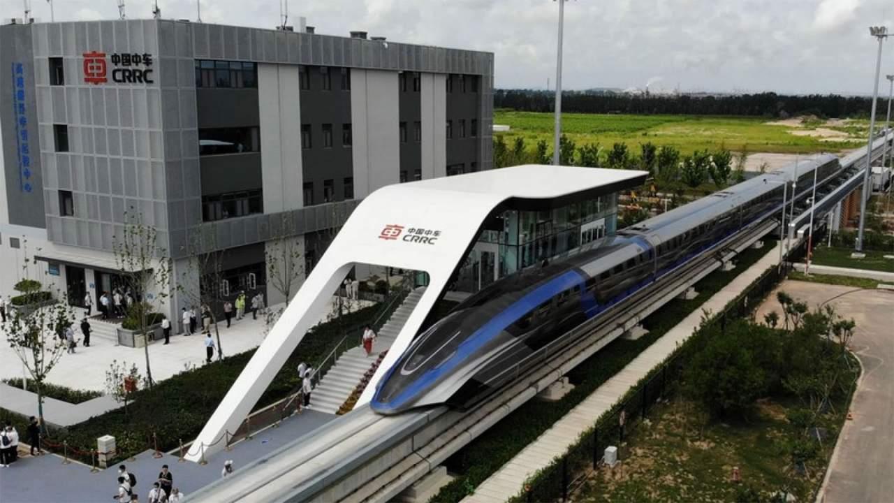 China's new maglev bullet train hits 600 km/h