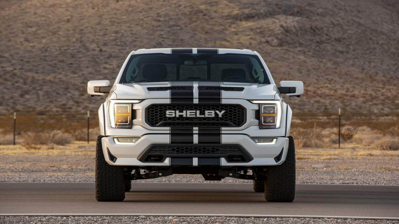 2021 Shelby F-150 appears with supercharged power and racing stripes