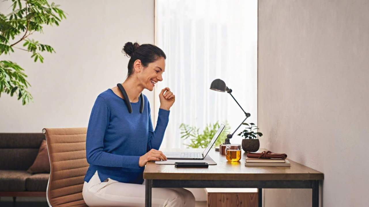 Sony Wireless Neckband Speaker drapes tunes and calls around your shoulders