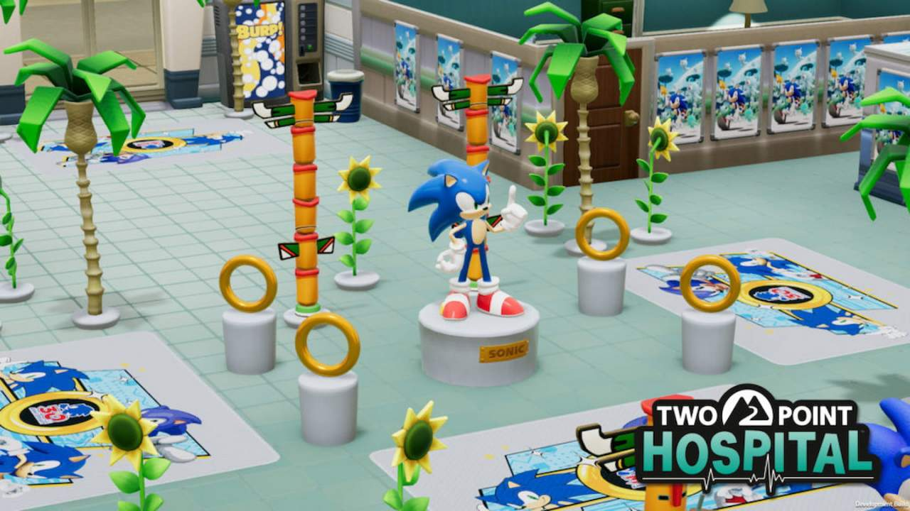 Two Point Hospital gets Sonic the Hedgehog items alongside free-to-play weekend