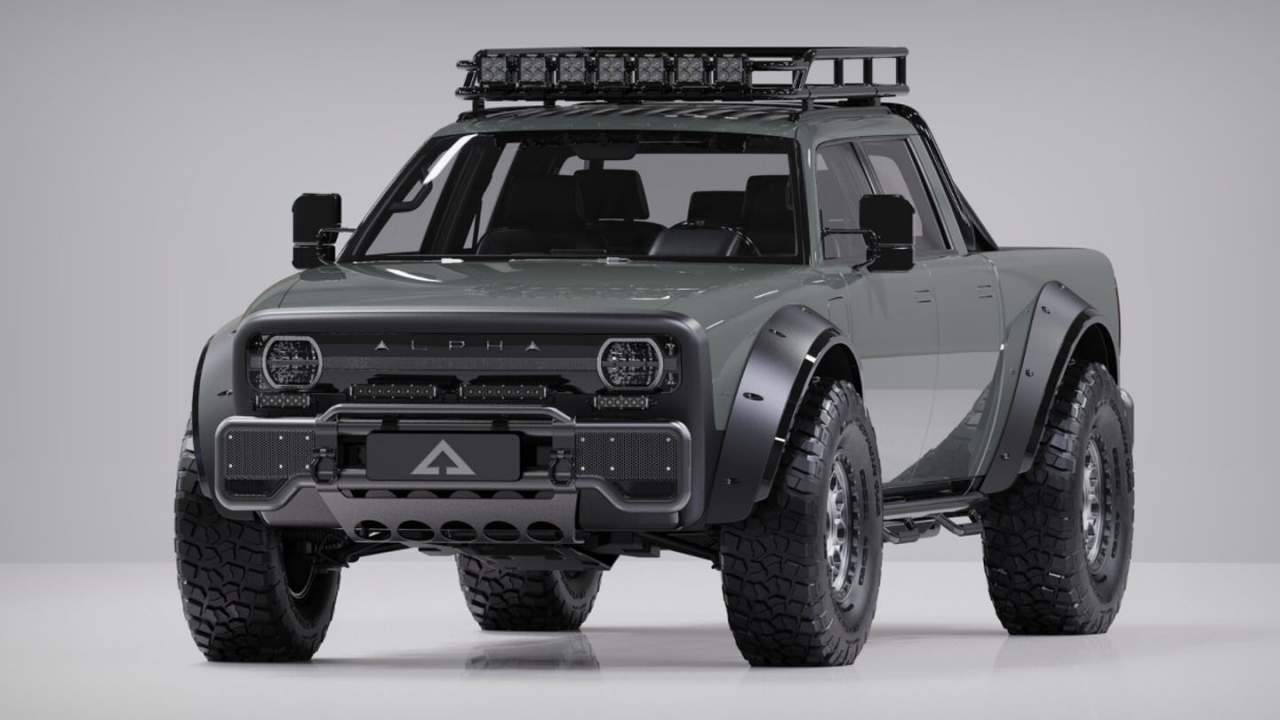Alpha Motors Superwolf is a completely decked out electric pickup