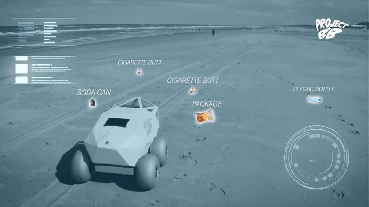 BeachBot uses AI to rid beaches of cigarette butts