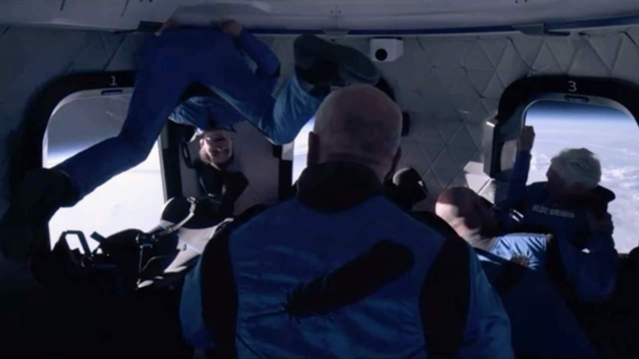 Watch Jeff Bezos frolic in zero-gravity on Blue Origin's spaceflight