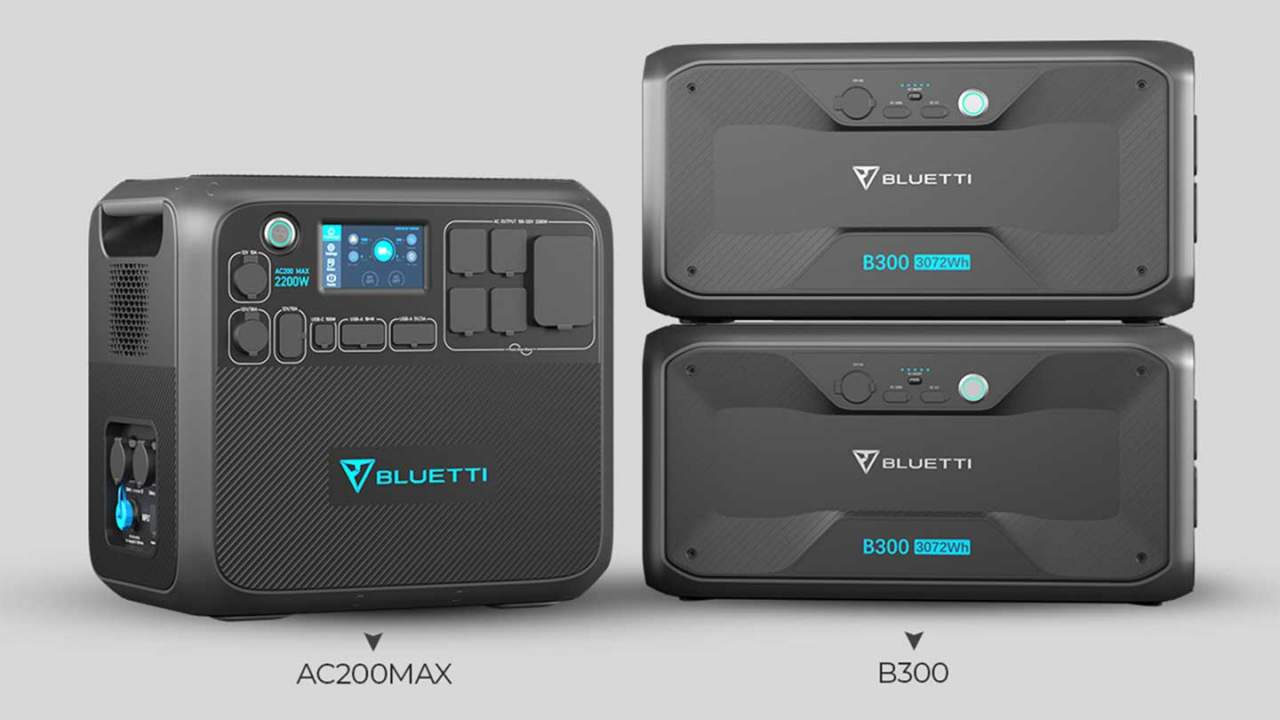 Bluetti AC300 and AC200 MAX modular portable power stations deliver flexibility