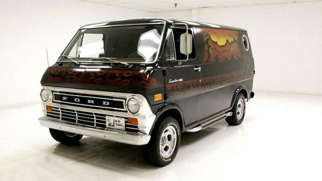 Shagtastic '70s custom Ford Econoline hits auction