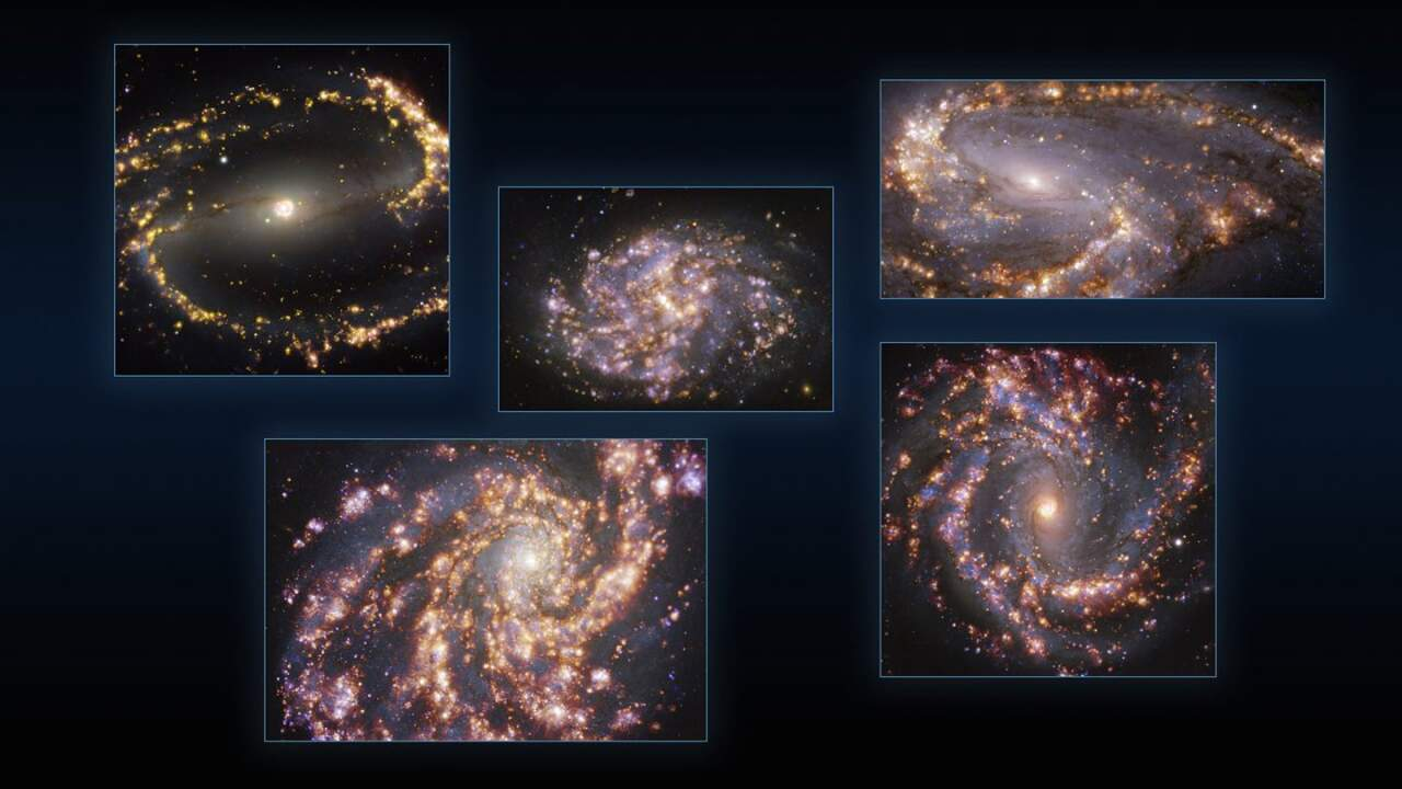 ESO astronomers share galaxy images that look like fireworks