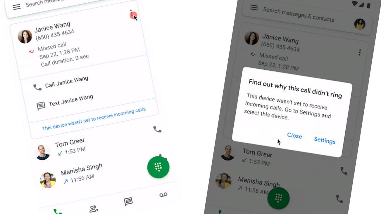 Google Voice update gets smart, gives reasons for missed, dropped calls