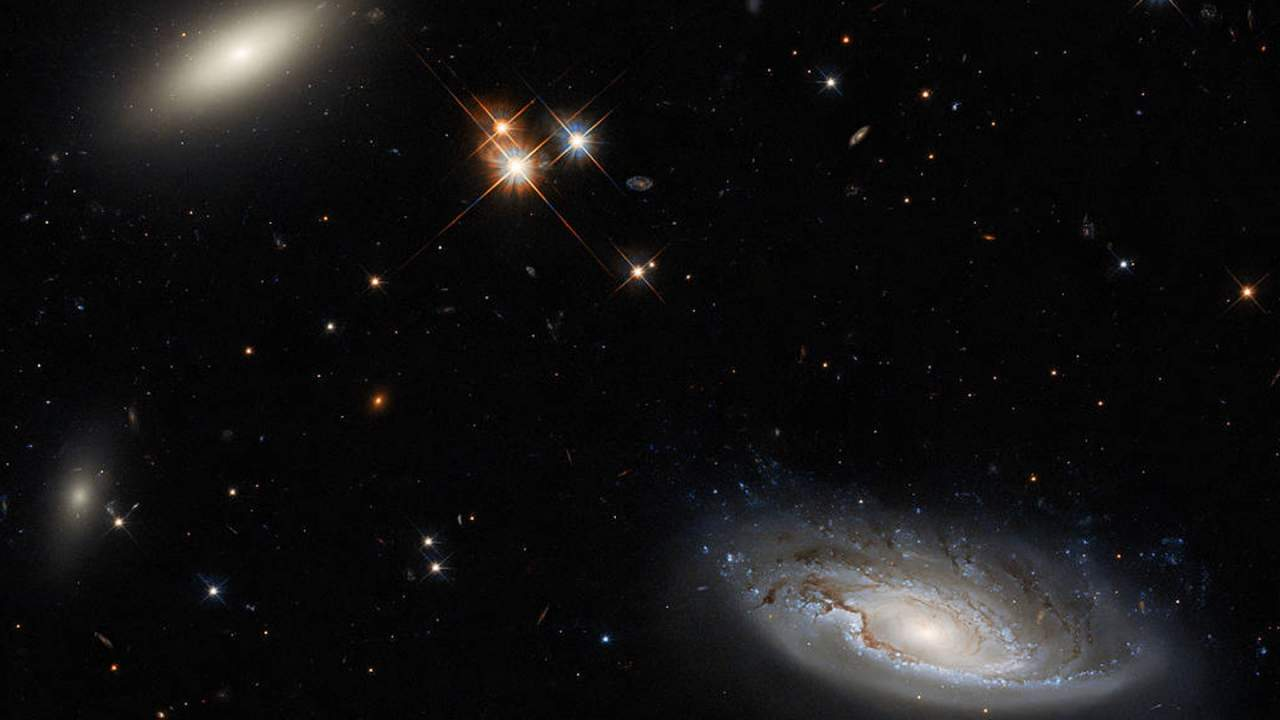 NASA shares a beautiful image showing two massive galaxies taken by Hubble