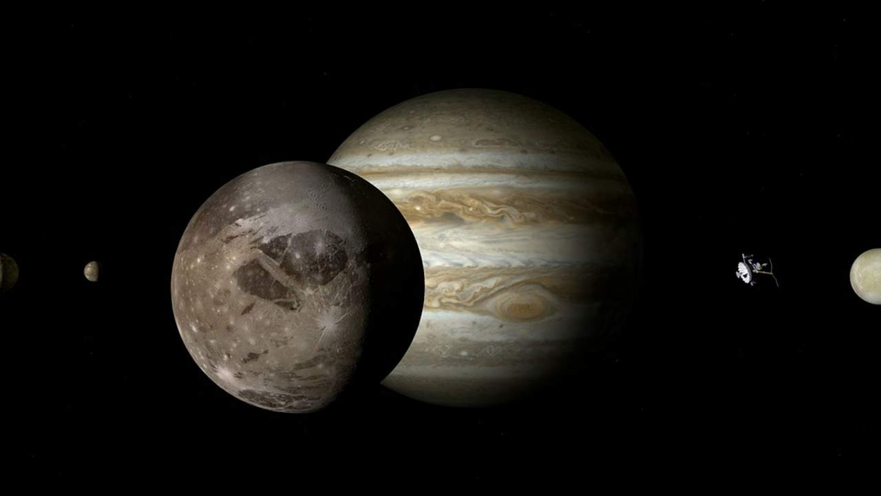 NASA video takes us on a flyby of Jupiter and Ganymede