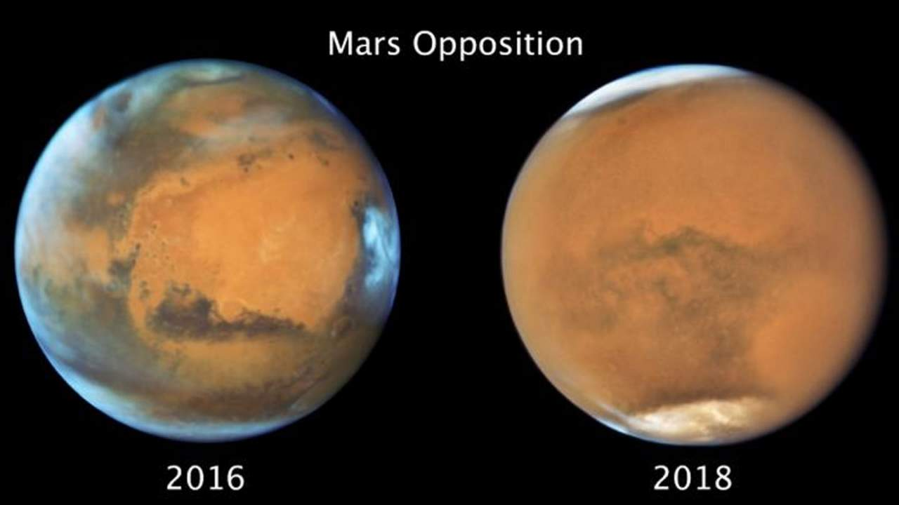 Mars' massive dust storm in 2018 ended winter early