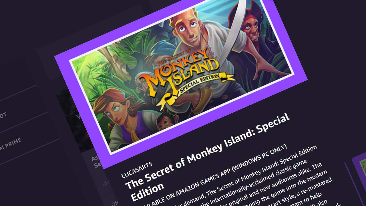 LucasArts legacy lives on in Prime Gaming push:  Sam & Max, Secret of Monkey Island