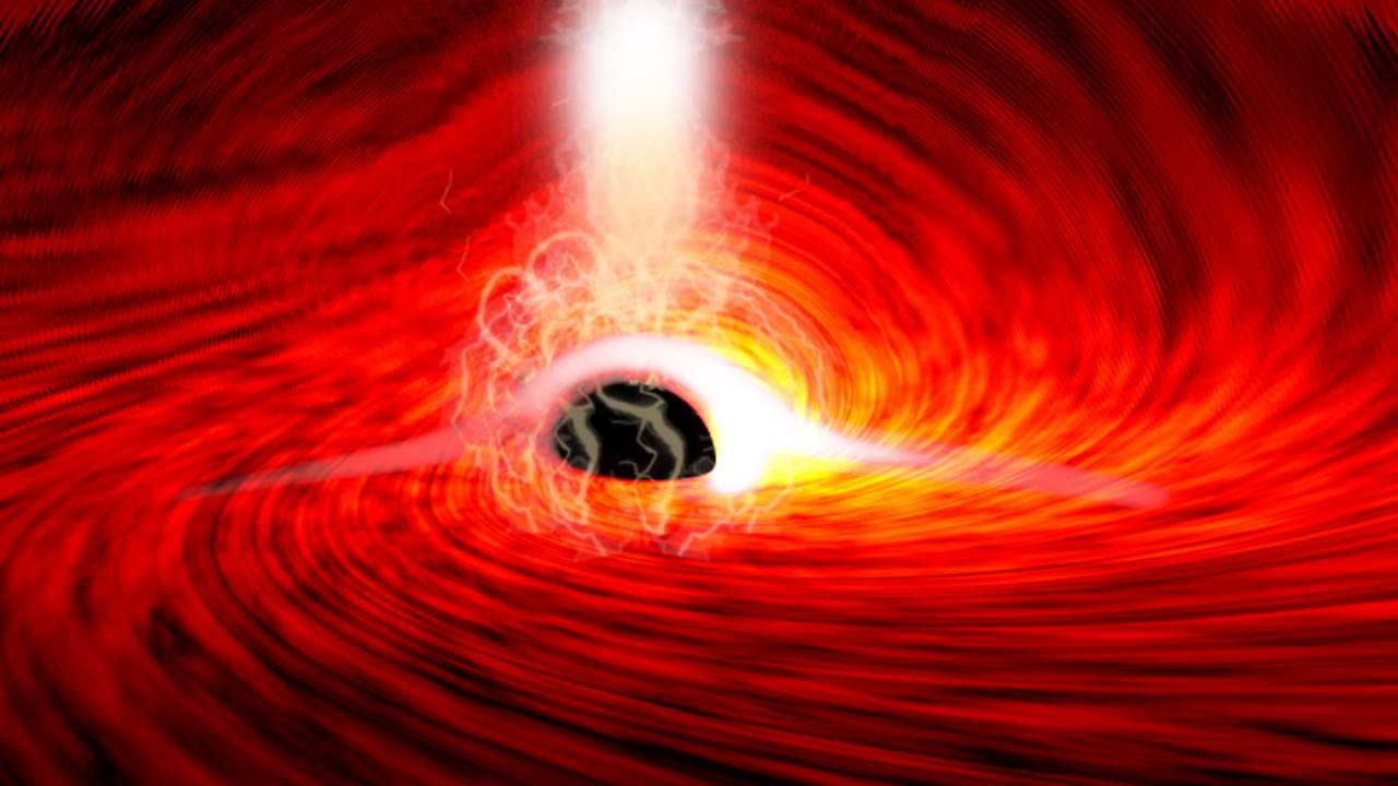 Astrophysicists detect light coming from behind a black hole