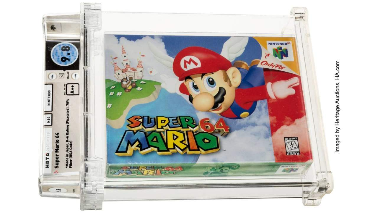 Super Mario 64 cartridge sells at auction for record-breaking $1.5 million