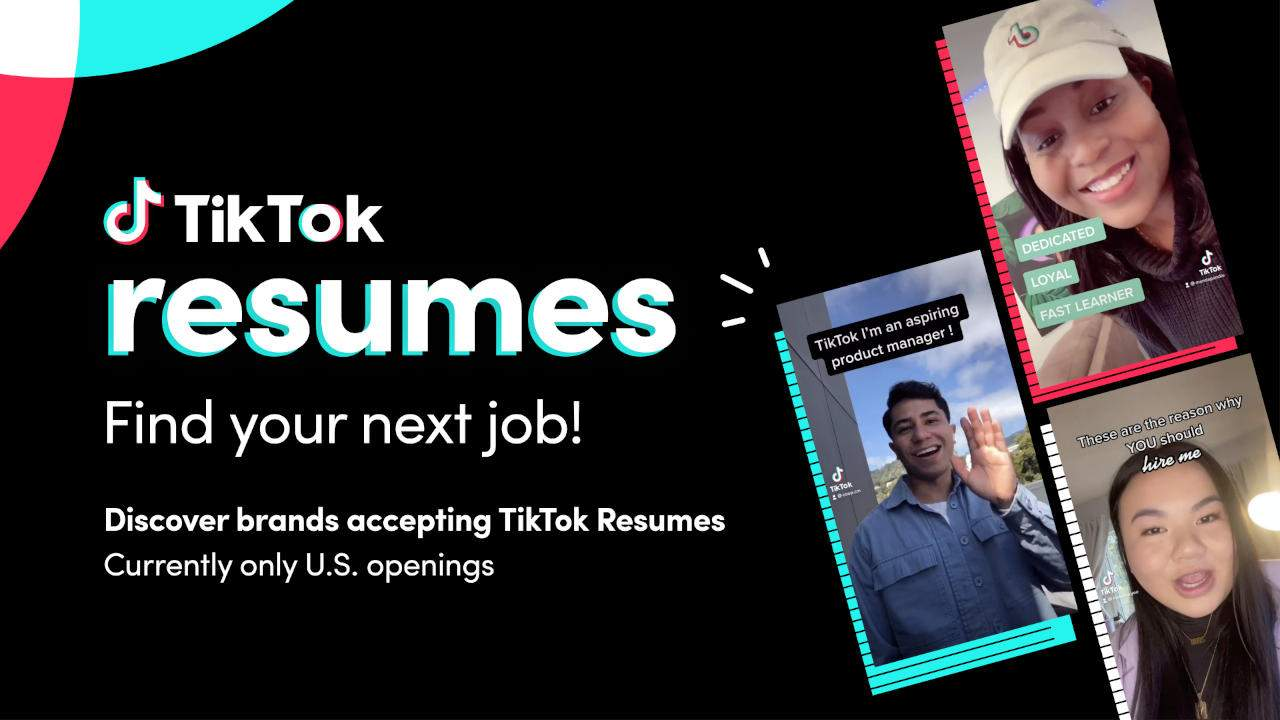 TikTok Resumes want to help you find work, paid customs coming soon