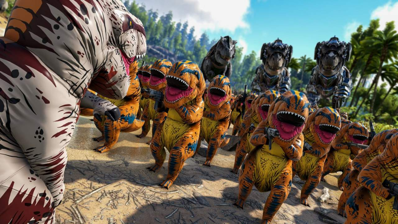 ARK: Survival Evolved just jumped the shark with inflatable T-Rex costumes