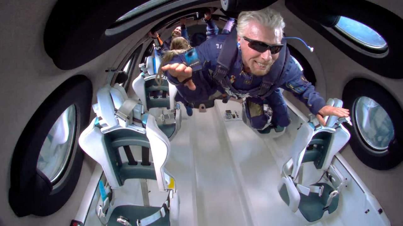 Richard Branson went up, but Virgin Galactic's stock went down