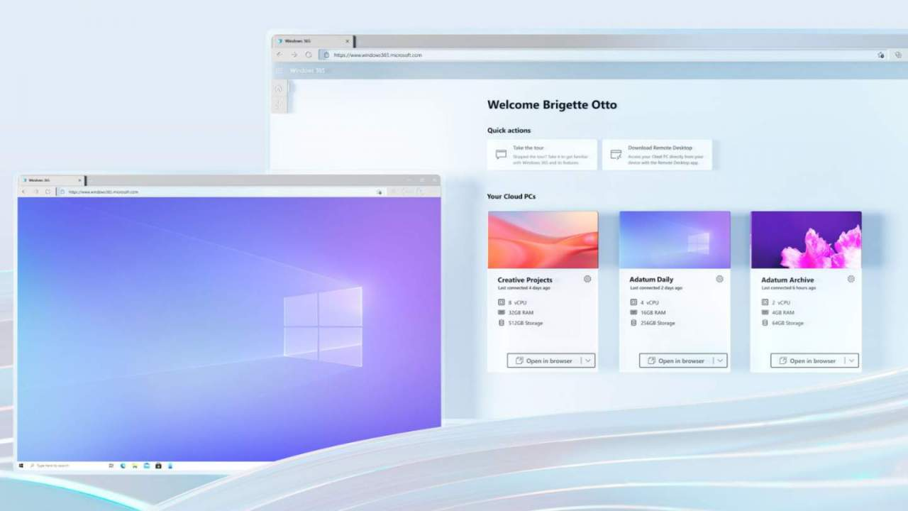 Windows 365 launches as the Xbox Cloud Gaming of PCs