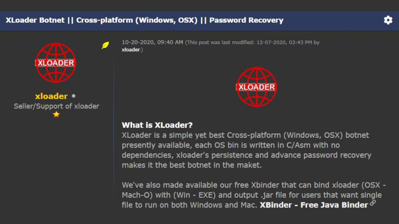 XLoader spyware evolved from Formbook to infect macOS