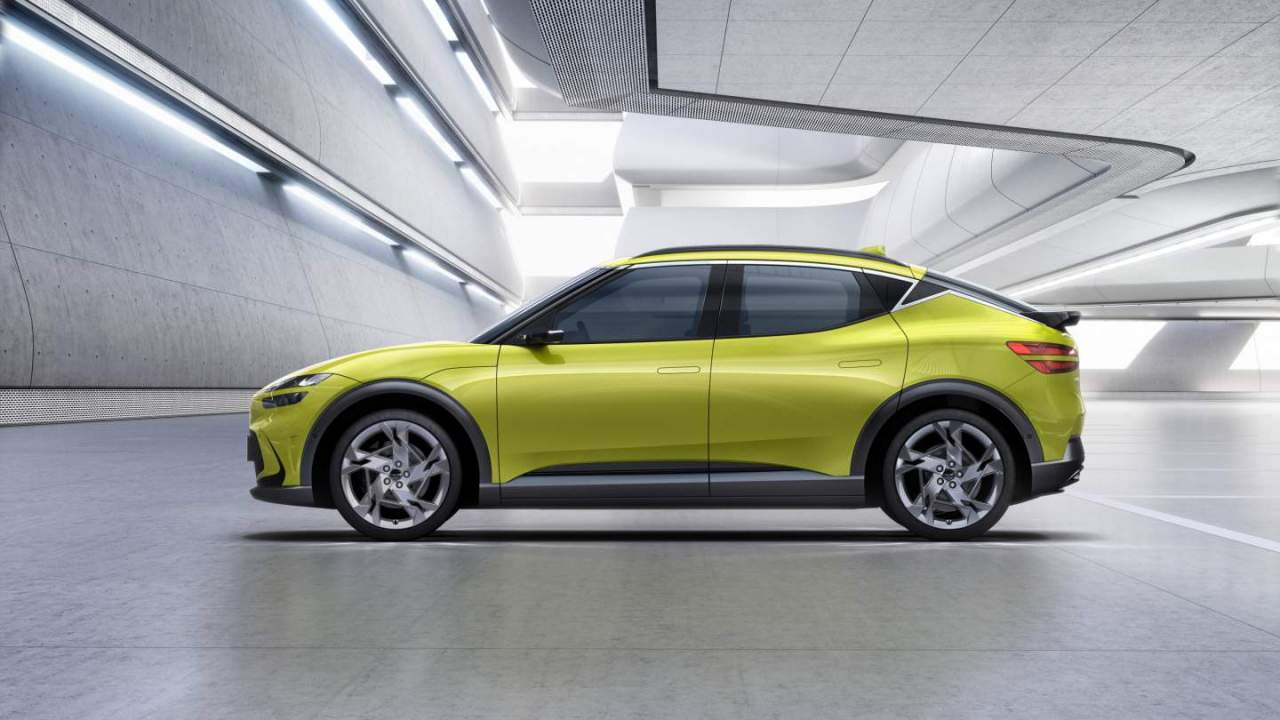 2022 Genesis GV60 EV unveiled with funky paint and a floating crystal sphere