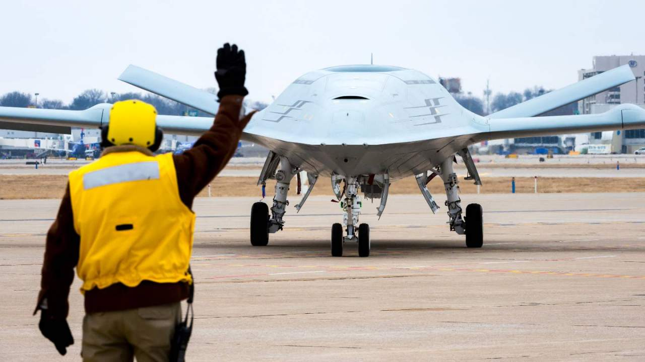 Boeing simulation test uses unmanned drone to refuel jet during flight