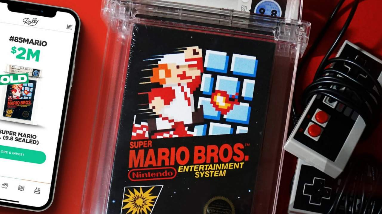 Here's another sealed copy of Super Mario Bros that sold for way too much