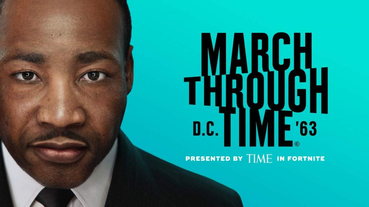 March Through Time Fortnite event revisits the life of Martin Luther King