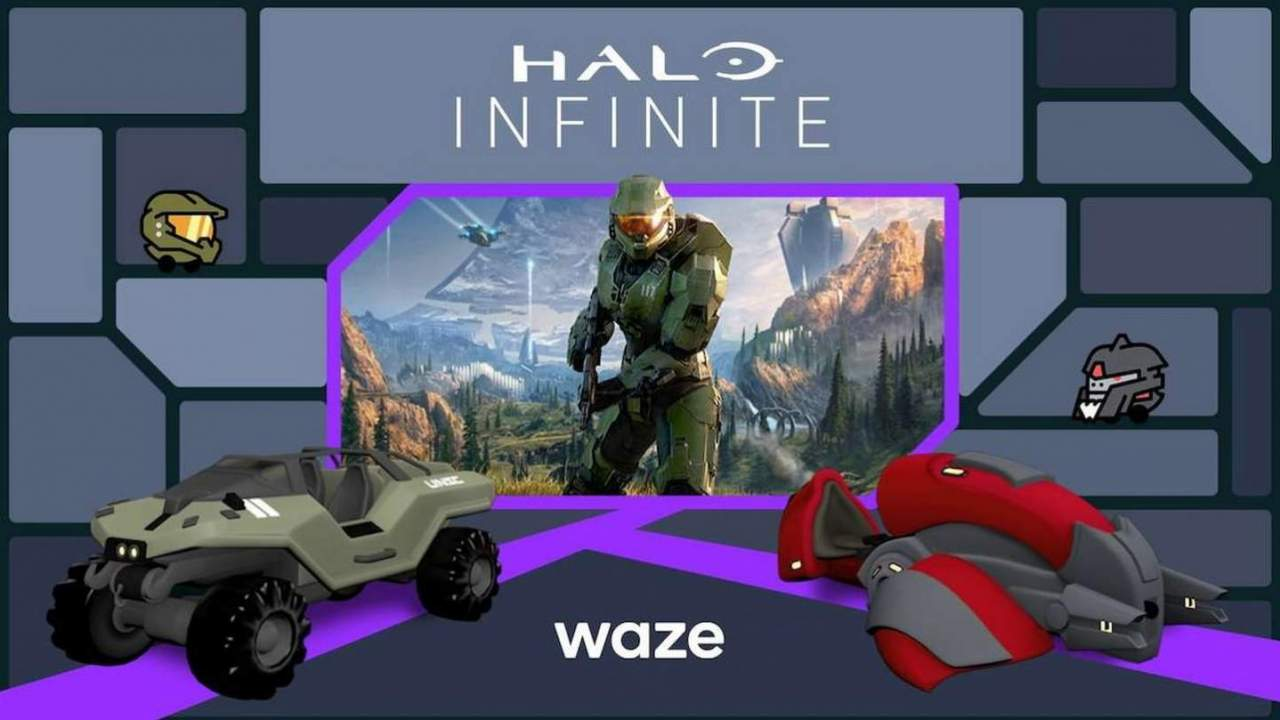 Master Chief navigates your Waze trips in bizarre Halo Infinite crossover