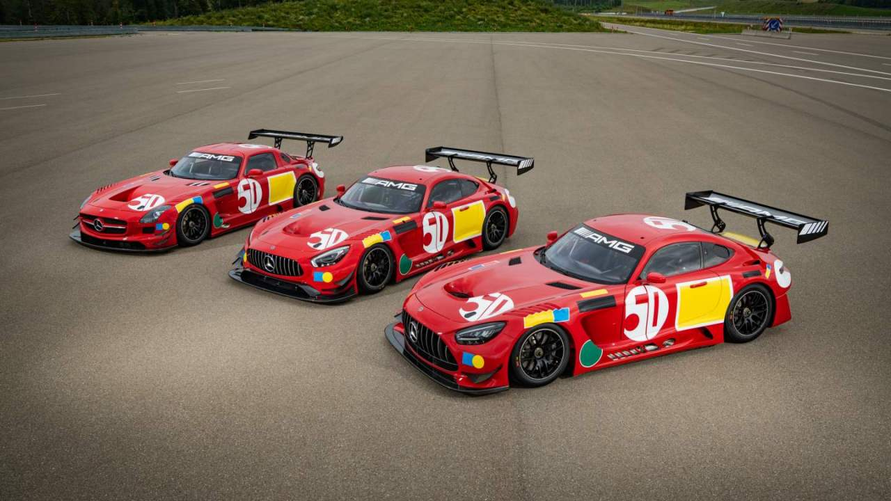 Mercedes-AMG celebrates 50th-anniversary win at 24 Hours of Spa with three GT3 cars