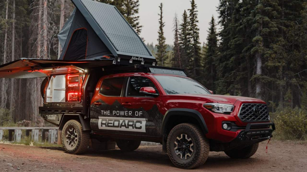 This 2021 Toyota Tacoma TRD Off-Road has a Redarc power station