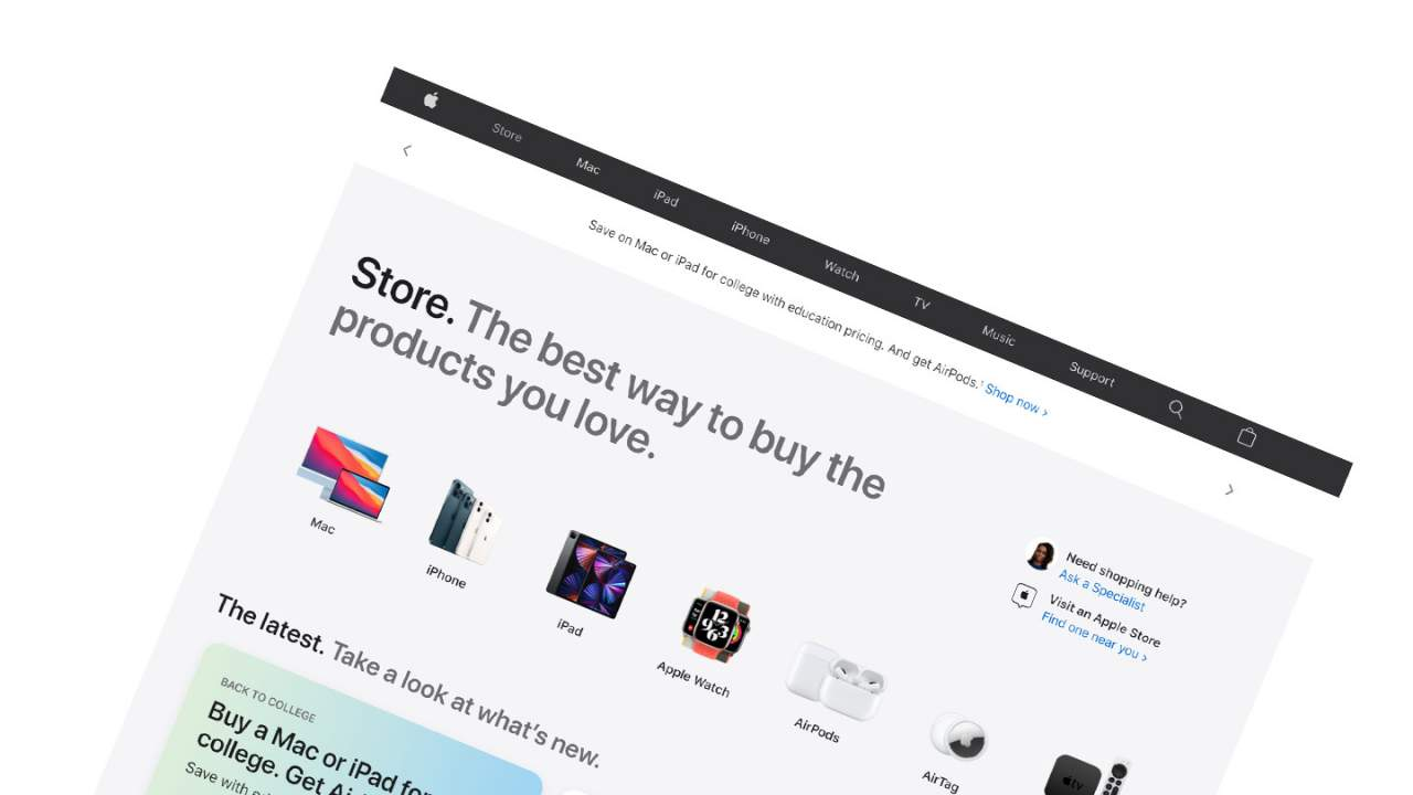 Apple Store website redesign puts touchscreen users first