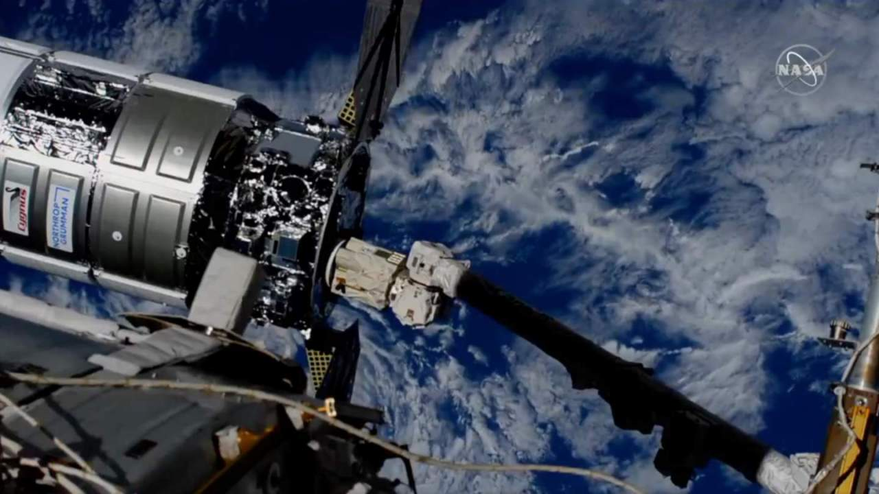 The ISS has a new visitor: NASA confirms Cygnus docks with science haul