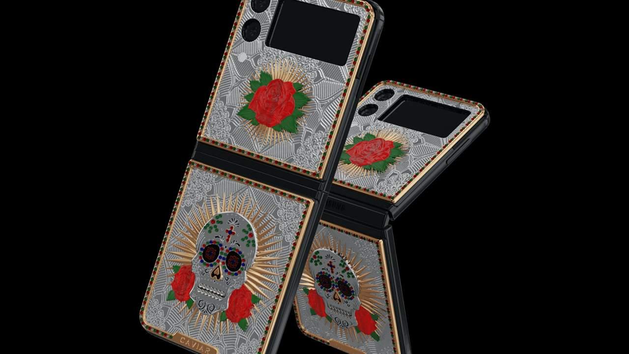 Samsung Galaxy Z Flip3 and Fold3 leaked with custom skulls, diamonds, and rubies