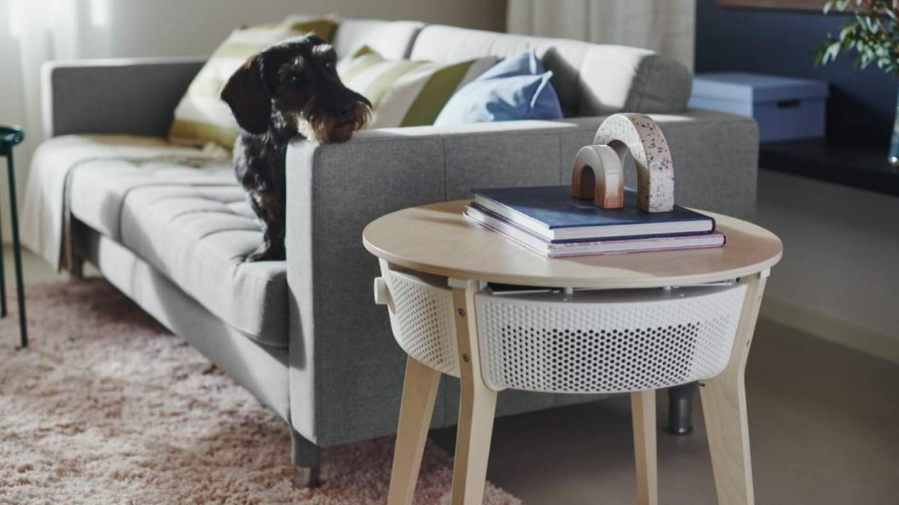 IKEA STARKVIND hides a smart air purifier in a handy side table