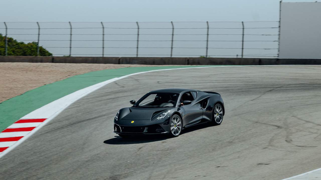 Lotus Emira lands stateside with an F1 legend in tow