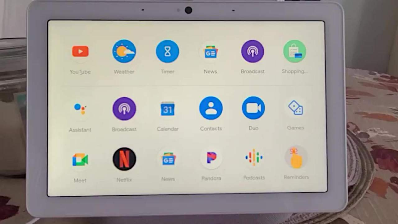 Google Nest Hub might have its very own app launcher