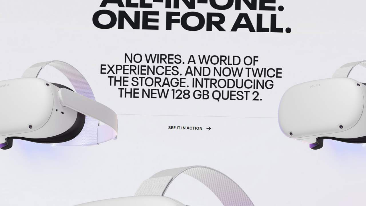 Oculus Quest 2 128GB released with same price