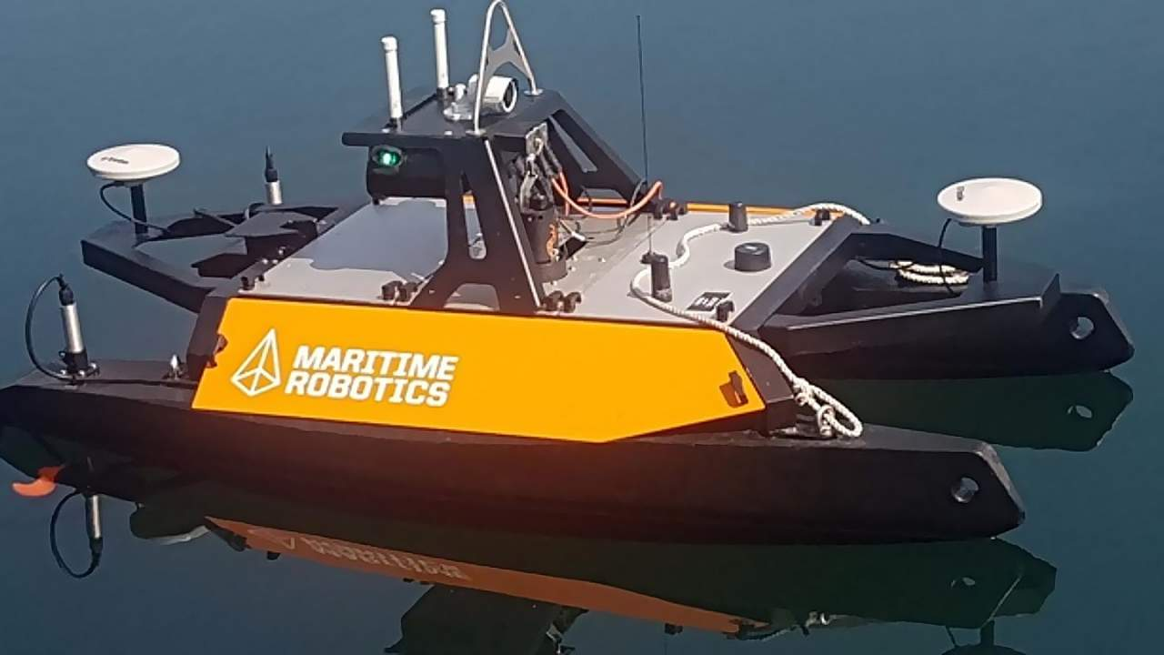 Royal Navy tests robotic unmanned boat to explore uncharted waters