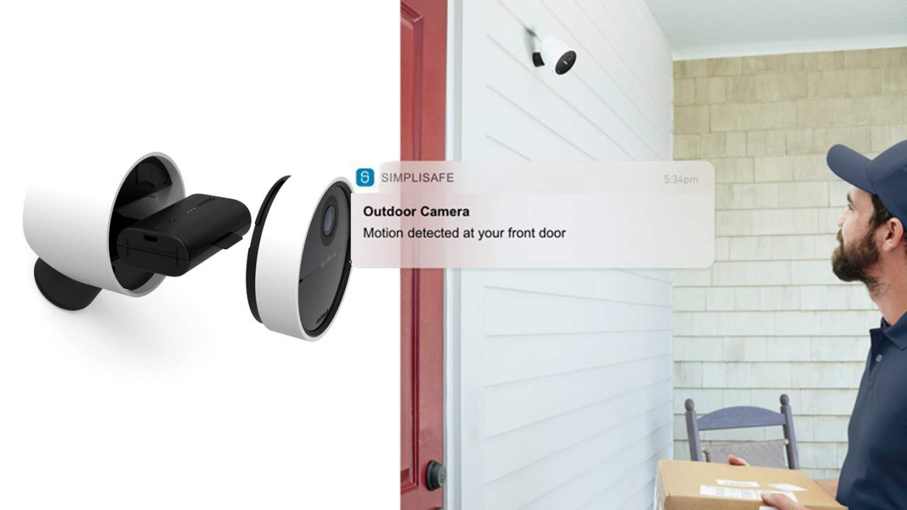 SimpliSafe Outdoor Camera is DIY simple and has its own 80dB siren