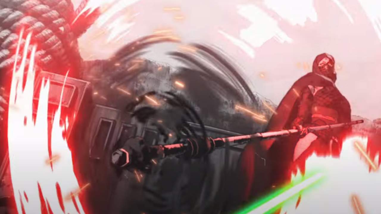 Star Wars Visions trailer lightsaber umbrella and historical context
