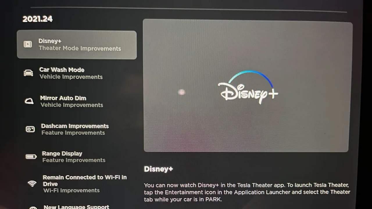 Tesla 2021.24 software update brings Disney+ streaming and more