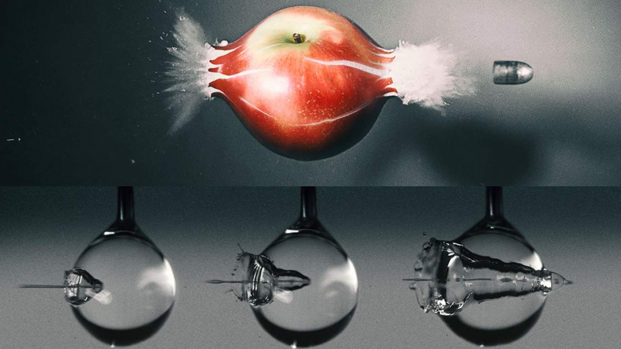 MIT shows off high-speed photography of a waterjet hitting a water drop