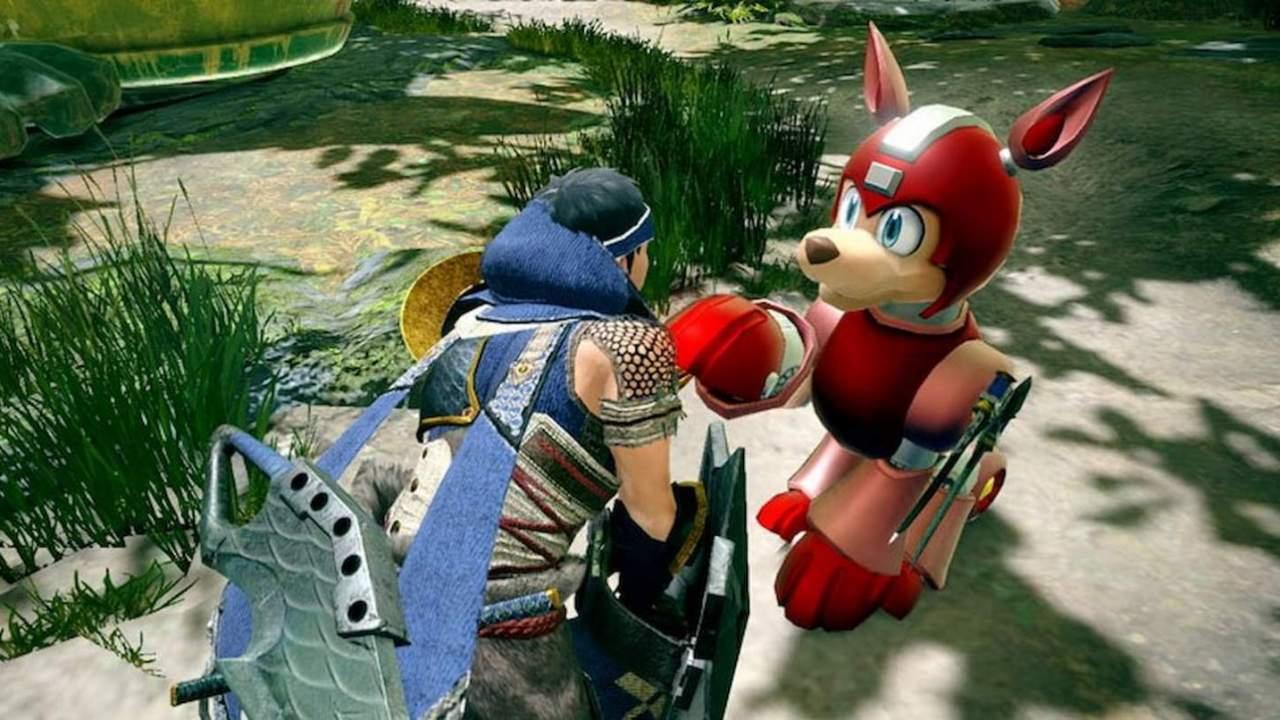 Latest Monster Hunter Rise crossover adds Mega Man's dog Rush