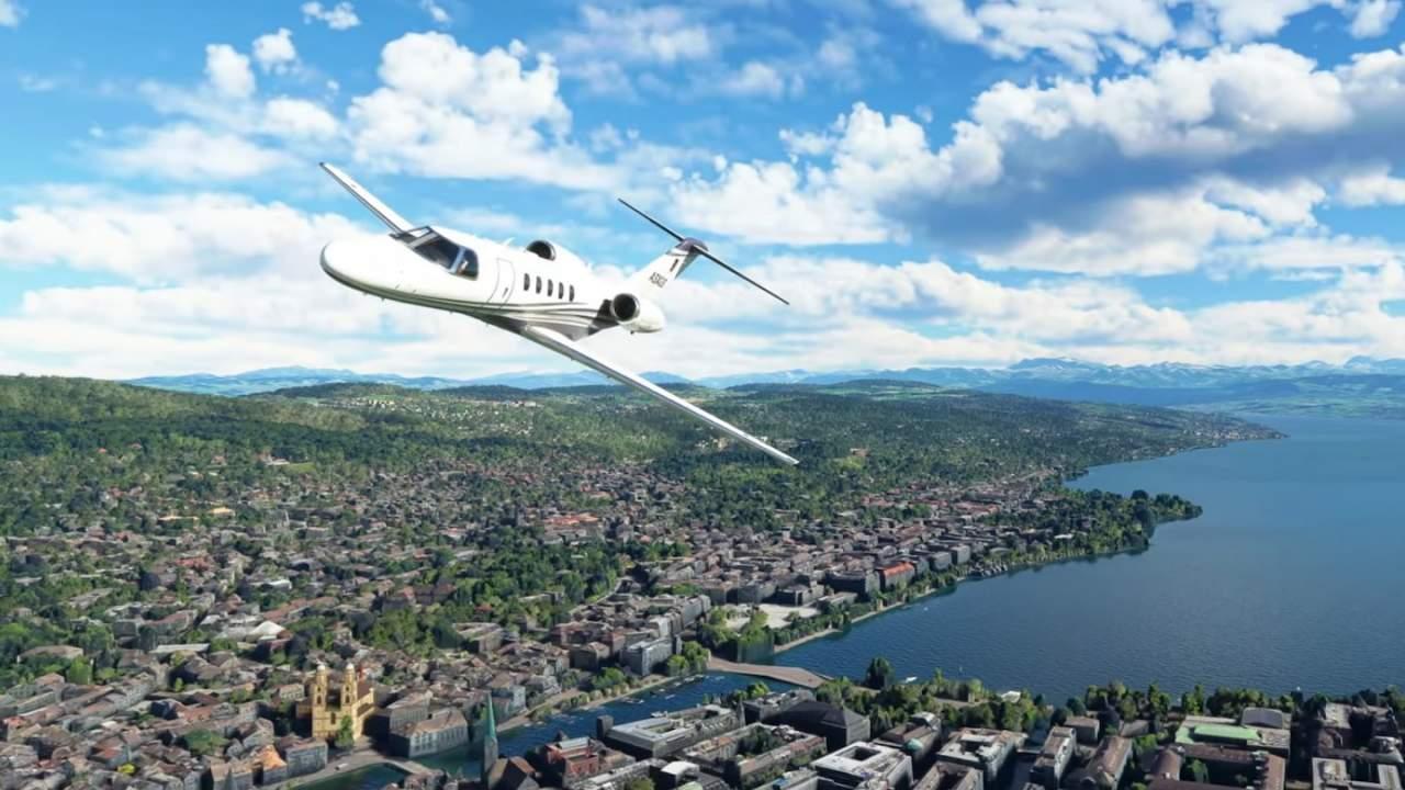 Microsoft Flight Simulator World Update 6 takes us to the Alps