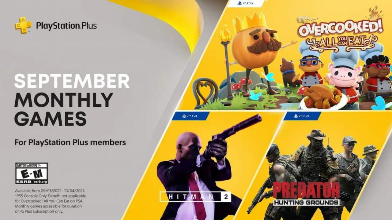 PlayStation Plus games for September include a ton of Overcooked for PS5