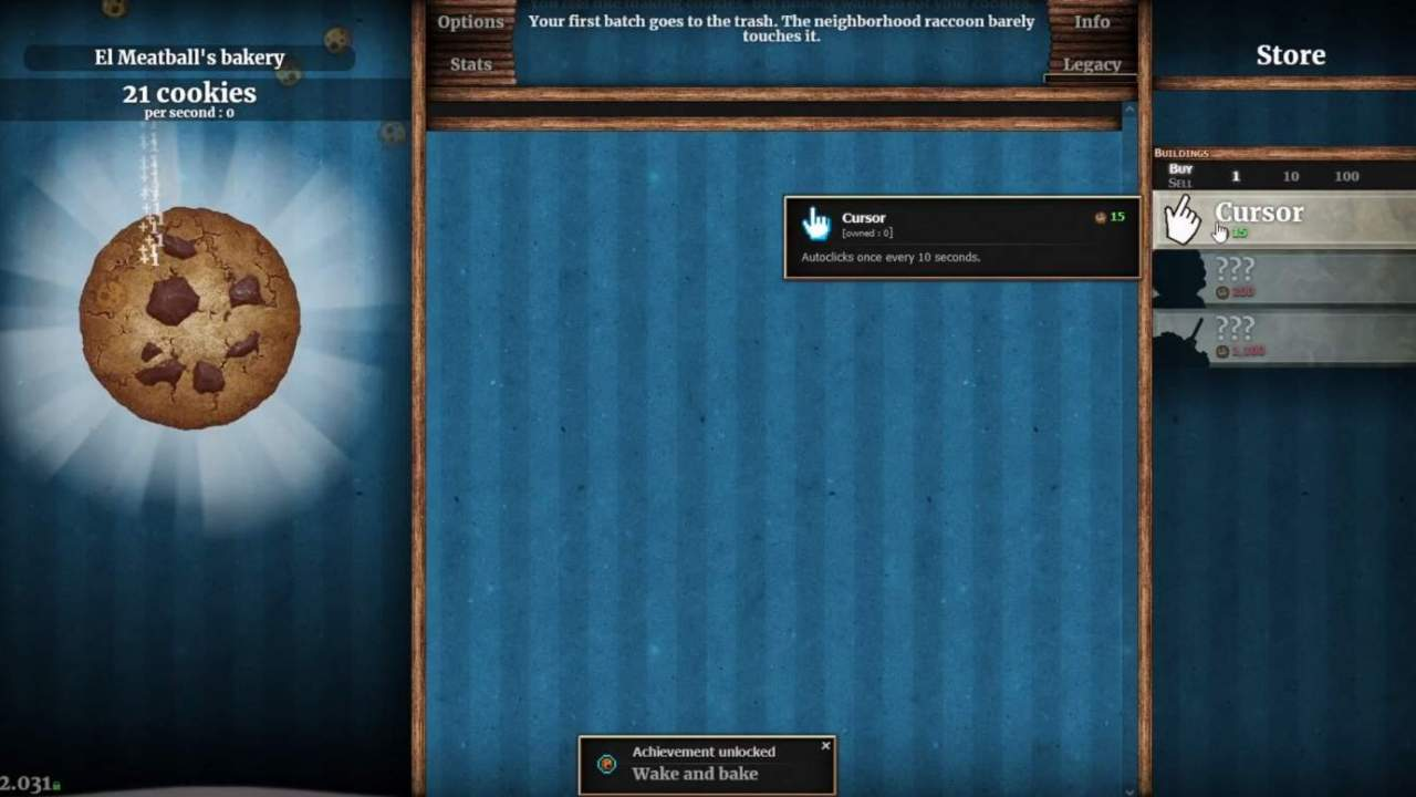 Well, I'm addicted to Cookie Clicker again