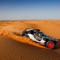 Audi spent two weeks testing its RS Q e-tron rally car in the desert